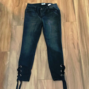 Kensie Jeans Black Straight Leg Womens Size 6X28
